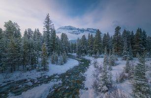 Заставки Banff National Park, зима, река