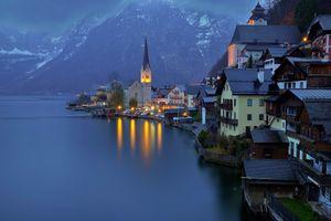Бесплатные фото Hallstatt,Хальштатт,Гальштат,Австрия,озеро Хальштаттерзее,город,пейзаж