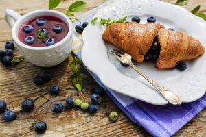 Фото бесплатно кисель, ягоды, завтрак