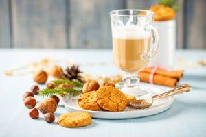 Фото бесплатно кофе, печенье, завтрак