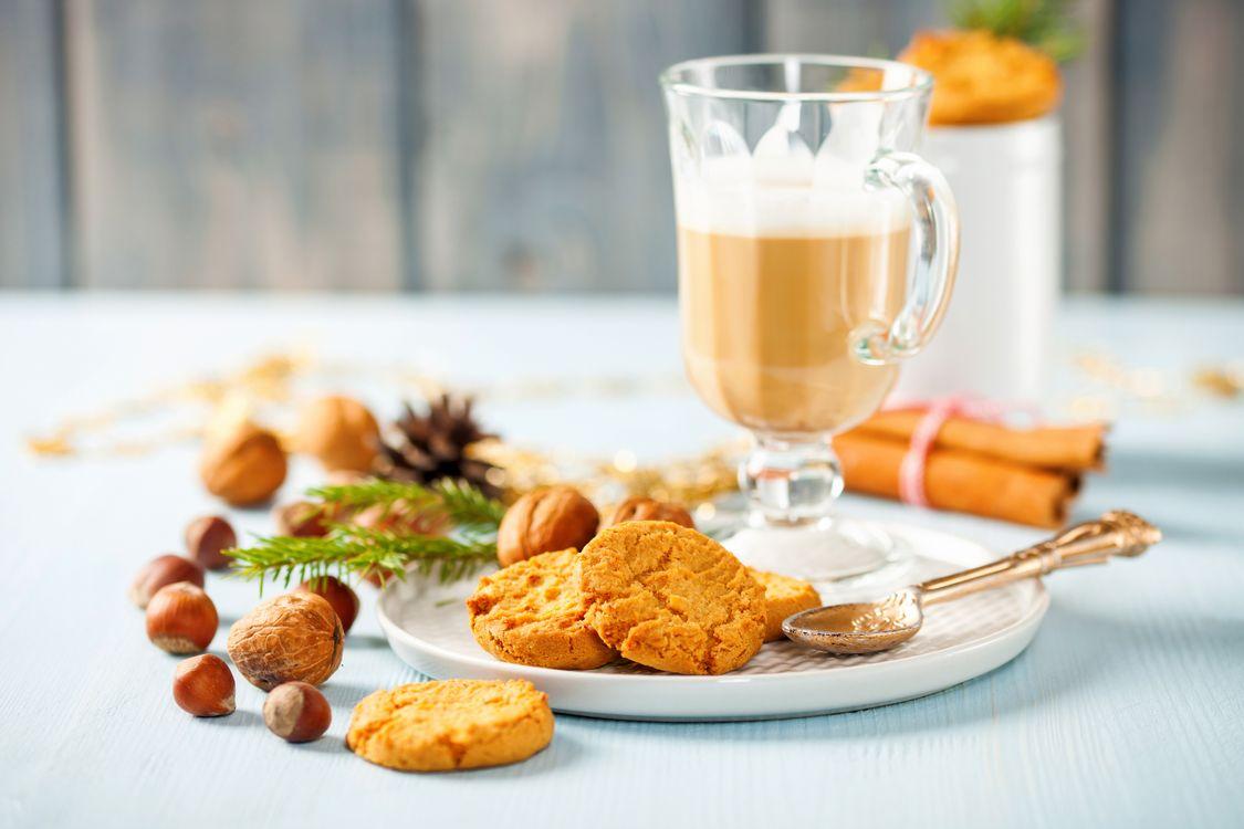 Фото бесплатно кофе, печенье, завтрак - на рабочий стол