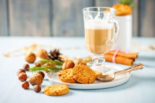 Заставки кофе, печенье, завтрак