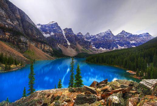 Фото бесплатно Альберта, горы, озеро Морейн