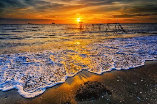 Бесплатные фото Malaysia,Tropical Paradise,закат,море,пляж,берег,волны,причал,пейзаж