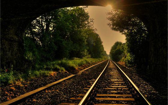 Фото бесплатно настроение, железная дорога, треки