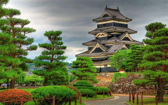 Бесплатные фото Castle,garden,Japan