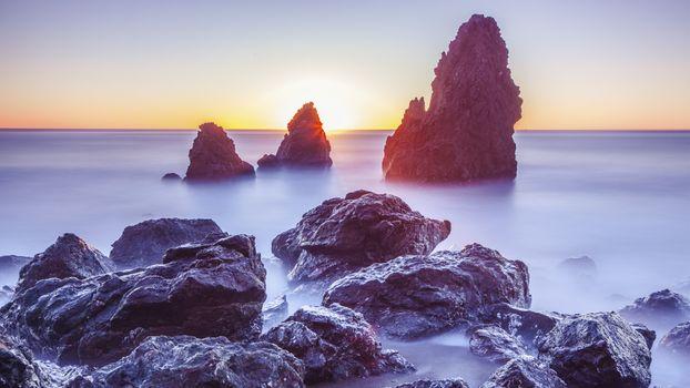 Фото бесплатно Horizon, sunset, landscape