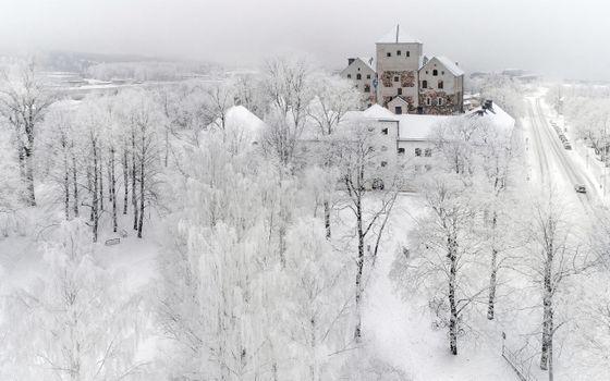 Заставки снег, зима, туманная