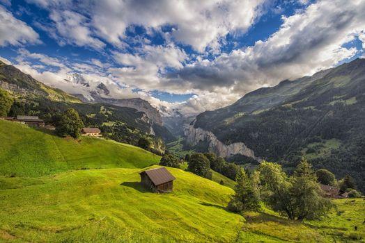 Фото бесплатно Венген, Швейцария, горы