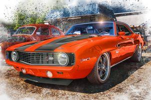 Заставки Южная Каролина,Соединенные Штаты,США,1969 Chevrolet Camaro Z28,Американский классический автомобиль,Американский автомобиль для мышц,авто