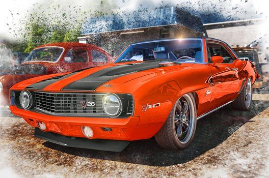 Бесплатные фото Южная Каролина,Соединенные Штаты,США,1969 Chevrolet Camaro Z28,Американский классический автомобиль,Американский автомобиль для мышц,авто,автомобиль,Автомобильная фотография,галстук-бабочка,BuzSim,Camaro