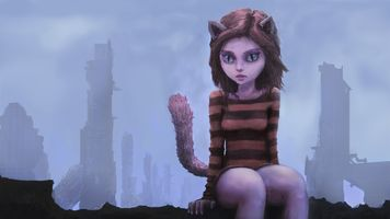 Заставки фэнтези девушка, уши животного, животных