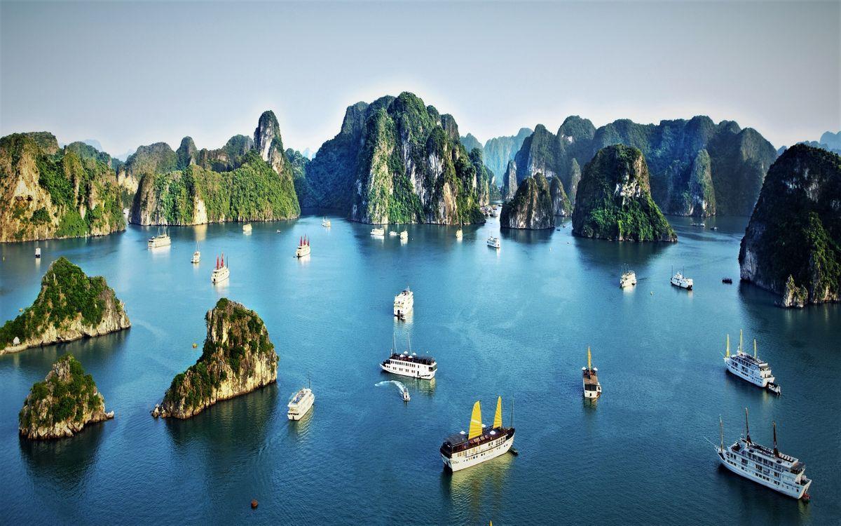 Фото бесплатно корабли, Вьетнам, океан - на рабочий стол