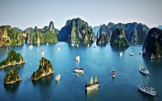 Заставки корабли, Вьетнам, океан