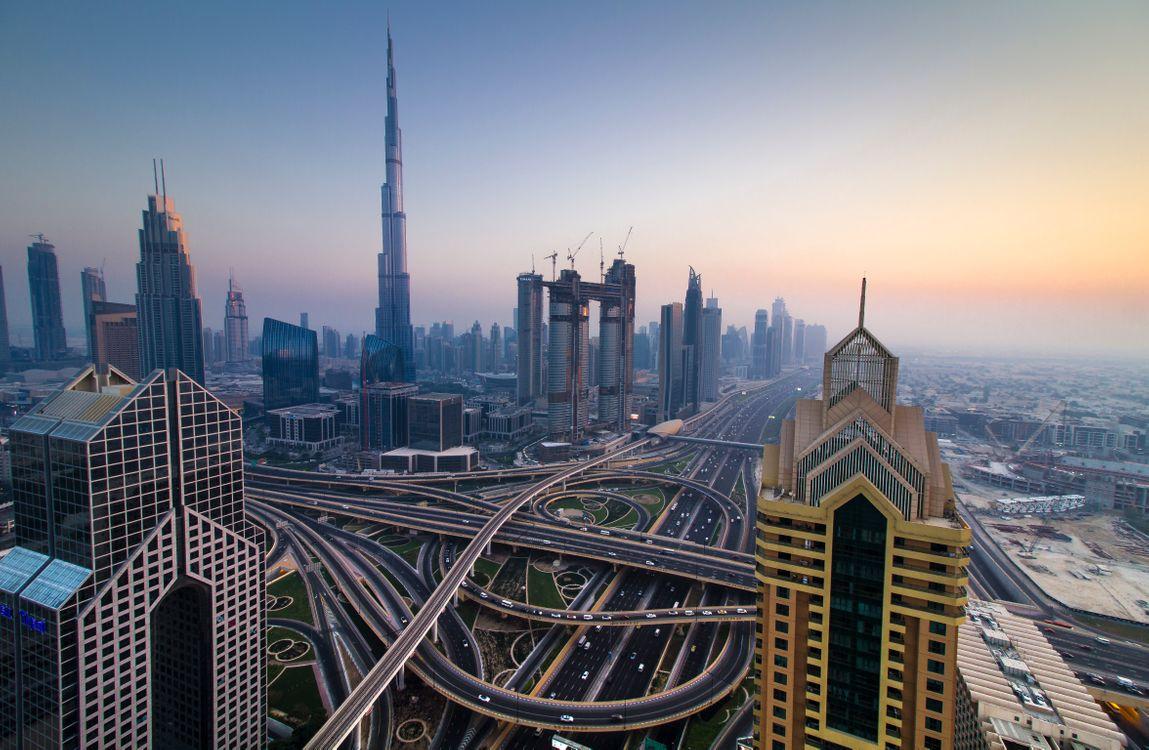 Фото бесплатно Burj Khalifa, Dubai, Бурдж-Халифа, Дубай, сумерки, город