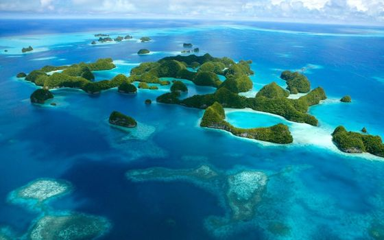 Фото бесплатно остров, прозрачная вода, мелководье