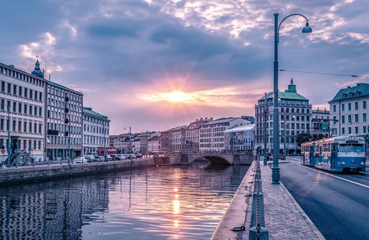 Фото бесплатно Гетеборг, Швеция, закат