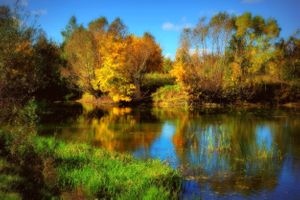 Photo free landscape, lake, autumn colours