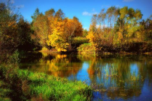 Photo free landscape, lake, autumn colours