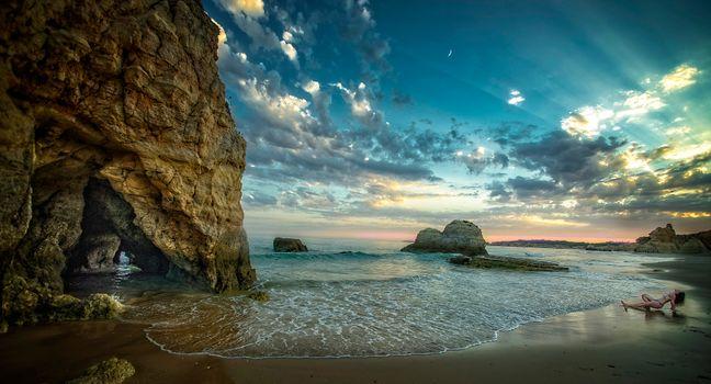 Заставки Portugal, Algarve, море