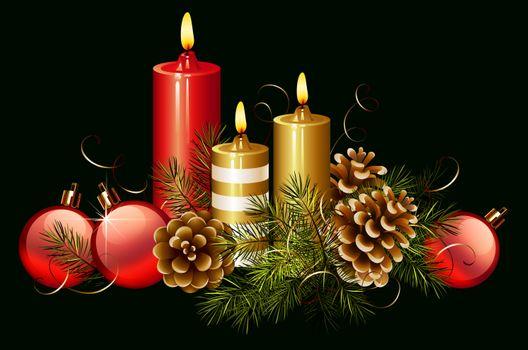 Фото бесплатно свечи, Рождество, Новый год