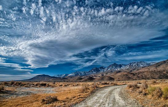 Заставки дорога, пустыня, горы