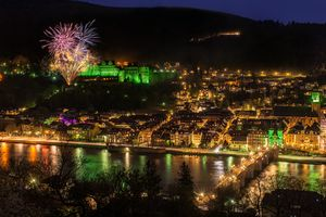 Fireworks in Heidelberg · free photo