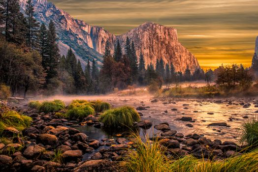 Photo free nature, Yosemite national park, sunset