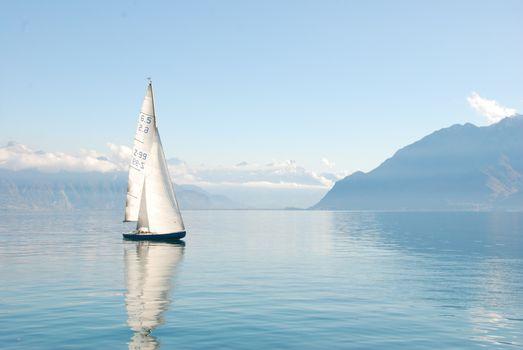 Заставки красивый пейзаж, лодка, дневной свет