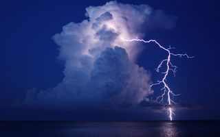 Фото бесплатно облака, молнии, ночь