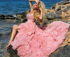 Бесплатные фото девушка, модель, платье, море, пляж,