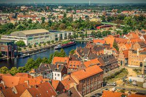 Фото бесплатно Любек, Голштинские ворота, с высоты птичьего полета