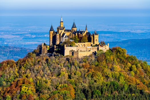 Photo free Hohenzollern Castle, Hohenzollern Castle on the hill, trees