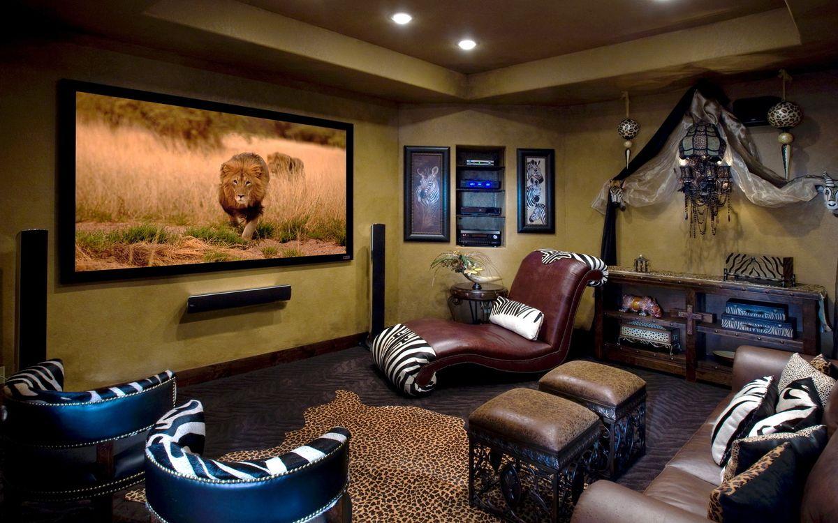 Обои комната, интерьер, лев картинки на телефон