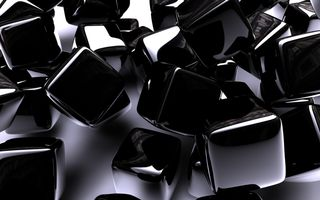 Фото бесплатно абстрактно, искусство, черный, хром, куб, цифровой, узор, блеск, площади