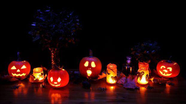 Фото бесплатно хэллоуин, праздник, тыквы