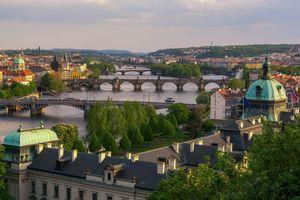 Река в Праге и мосты