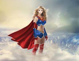 Заставки Супергерл, супергерои, художественное произведение