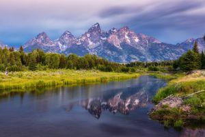 Бесплатные фото Teton Range,Титон,горный хребет,Вайоминг,Национальный парк Гранд-Титон,горы,река