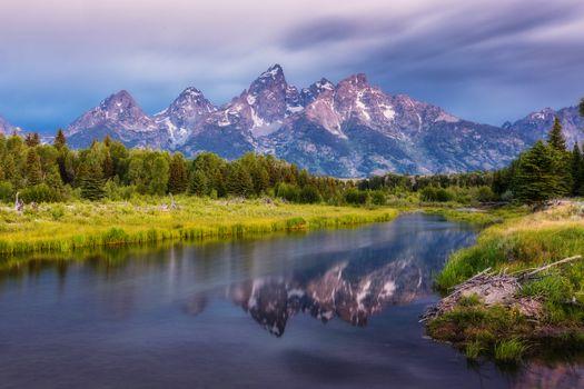 Фото бесплатно Teton Range, Титон, горный хребет