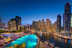 Заставки Дубай, ночные города, ночь