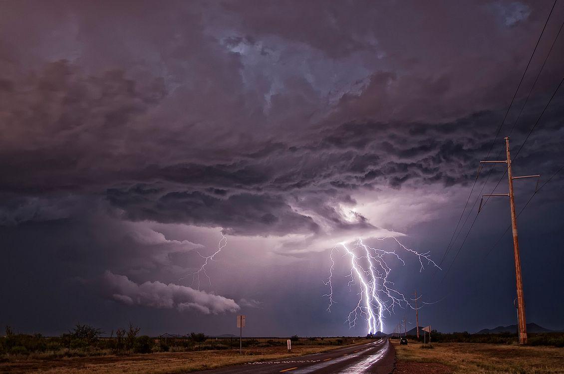 Фото бесплатно Муссонный шторм, Сьерра-Виста, Аризона - на рабочий стол