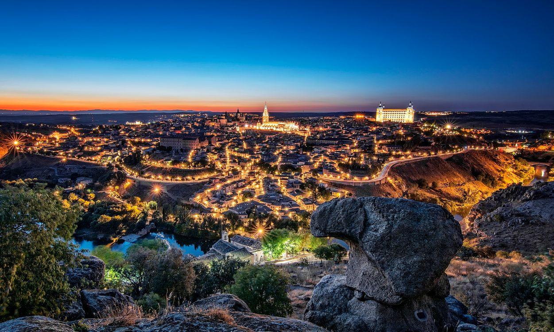 Фото бесплатно огни, ночь, Испания - на рабочий стол