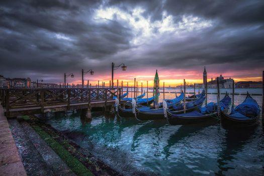 Заставки Venezia, Italy, закат
