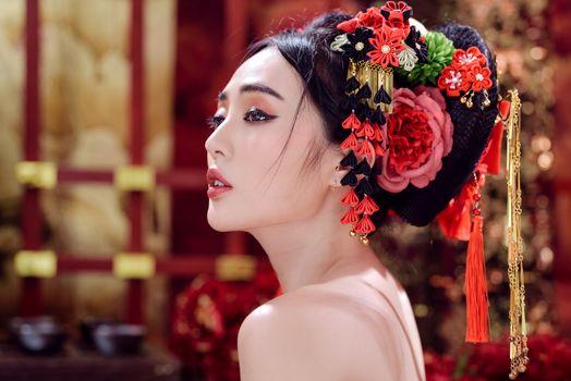 Фото бесплатно модель, красивый макияж, гламур