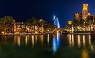 Заставки город, Дубай, огни
