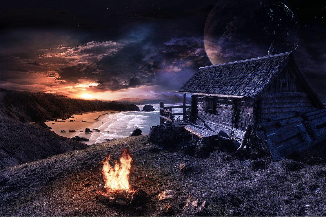 Фото бесплатно закат, сумерки, море - на рабочий стол