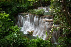 Фото бесплатно Huai Mae Kamin Waterfall, Водопад, Канчанабури