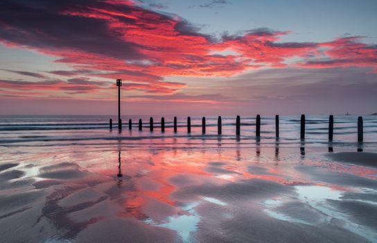 Сваи в море · бесплатное фото
