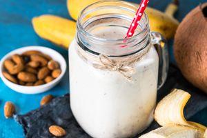 Бесплатные фото завтрак,орехи,йогурт,банан